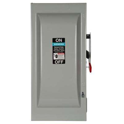 General Duty 100 Amp Triple Pole 240-Volt Outdoor Fusible Safety Switch with Neutral