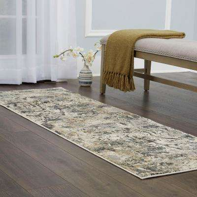 Christian Siriano Surface Windsor Light Gray 2 ft. 2 in. x 7 ft. 2 in. Indoor Runner Rug