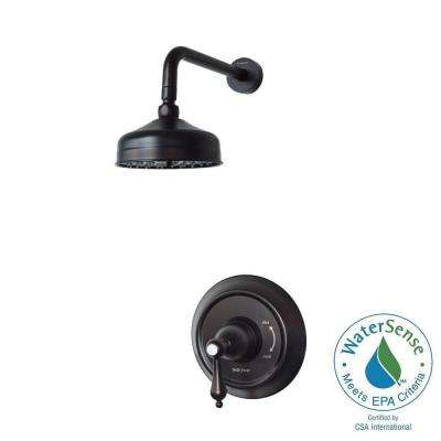 1-Handle Pressure Balanced Shower Faucet in Oil Rubbed Bronze