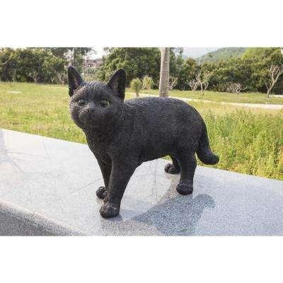 Black Cat Walking Statue