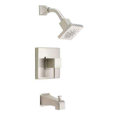 Reef 1-Handle Pressure Balance Tub and Shower Faucet Trim Kit in Brushed Nickel (Valve Not Included)