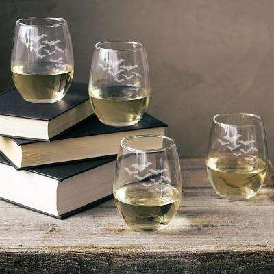 Colony of Bats 21 oz. Stemless Wine Glass