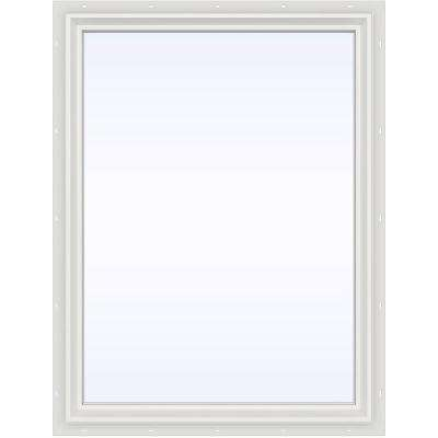 35.5 in. x 47.5 in. V-2500 Series Fixed Picture Vinyl Window - White