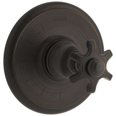Artifacts Prong 1-Handle Rite-Temp Pressure Balancing Valve Trim Kit in Oil-Rubbed Bronze (Valve Not Included)