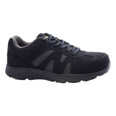 Stride Men's Black Nubuck Leather Aluminum Toe Work Shoe
