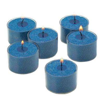 Navy Unscented Tealight Candles with Clear Cups (Set of 36)