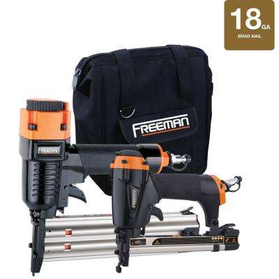 Pneumatic Brad Nailer and Stapler Kit with Bag