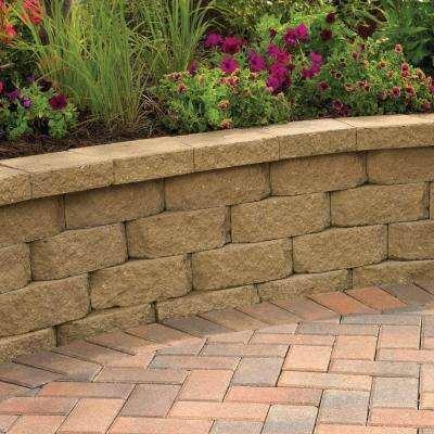 2.5 in. x 12 in. x 7.5 in. Red/Charcoal Concrete Retaining Wall Cap