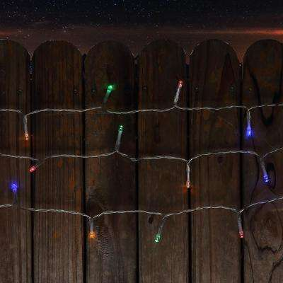 34 ft. 100-Light LED Multi-Color Battery Operated Decorative String Light