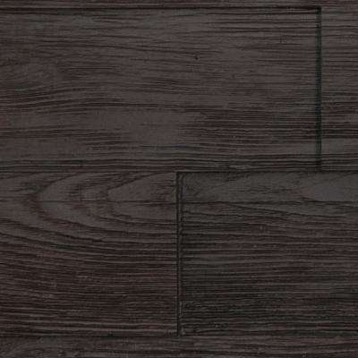 Superior Raised Grain 10 in. x 10 in. Faux Transitional Panel Siding Sample Double Espresso