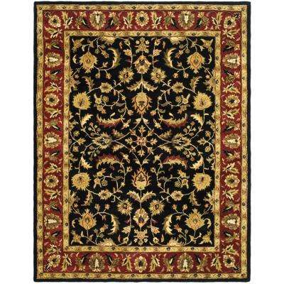Heritage Black/Red 8 ft. 3 in. x 11 ft. Area Rug
