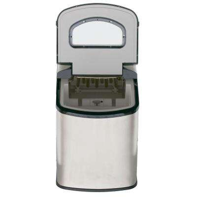 2 lbs. Countertop Portable Icemaker in Stainless Steel