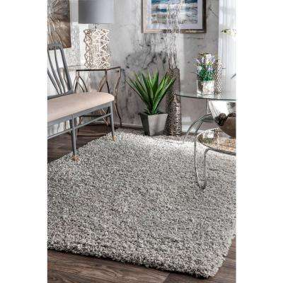 Shag Silver 8 ft. x 10 ft. Area Rug