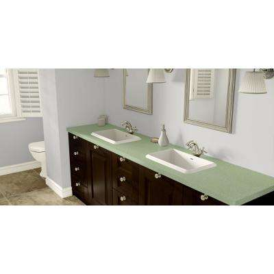 2 in. x 3 in. Laminate Countertop Sample in Retro Renovation Delightful Jade with Standard Matte Finish