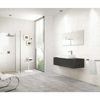 Silk Origins White Contour 12 in. x 36 in. Glazed Ceramic Wall Tile (15 sq. ft. / case)