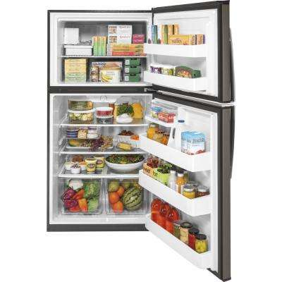 21.1 cu. ft. Top-Freezer Refrigerator in Slate, Fingerprint Resistant and ENERGY STAR