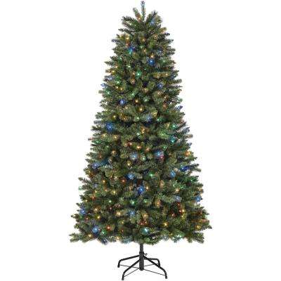 7.5 ft. Pre-Lit LED Townsend Fir Color Changing 9-Function Artificial Christmas Tree with 1000 Micro Dot Lights