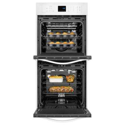 24 in. Double Electric Wall Oven Self-Cleaning in White