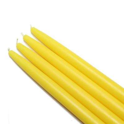 10 in. Yellow Taper Candles (12-Set)
