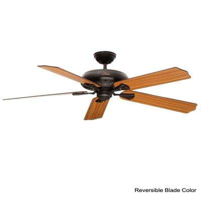 Royal Oak 60 in. Indoor New Bronze Ceiling Fan with Remote