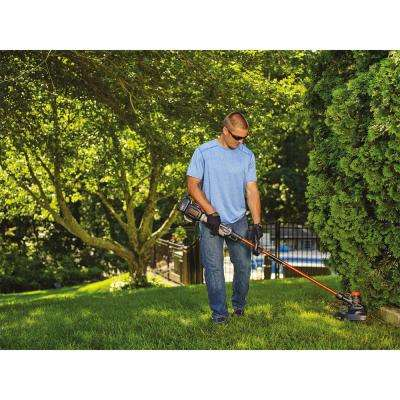 13 in. 60V MAX Lithium-Ion Cordless 2-in-1 String Grass Trimmer/Lawn Edger with (1) 1.5Ah Battery and Charger Included