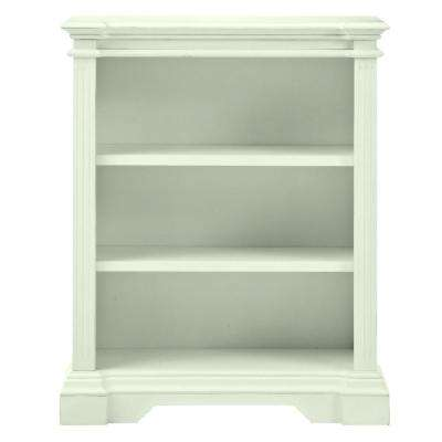 Bufford 3-Shelf Open Bookcase in Rubbed Ivory