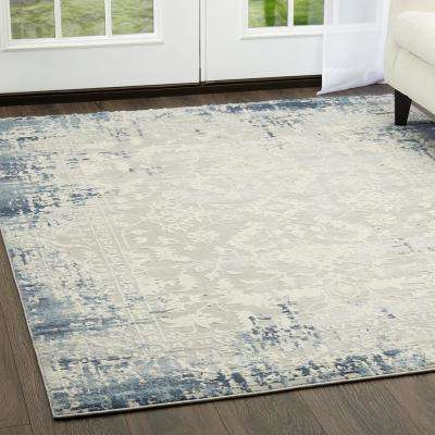 Palmyra Soft Blue 7 ft. 9 in. x 10 ft. 2 in. Indoor Area Rug