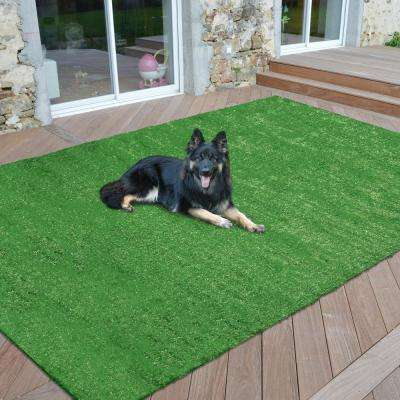 Meadowland Collection 6 ft. 6 in. x 9 ft. 3 in. Artificial Grass Synthetic Lawn Turf Indoor/Outdoor Carpet Area Rug