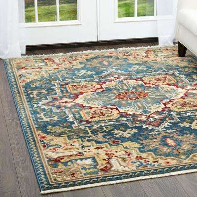 Ridgefield Blue 4 ft. x 6 ft. Indoor Area Rug