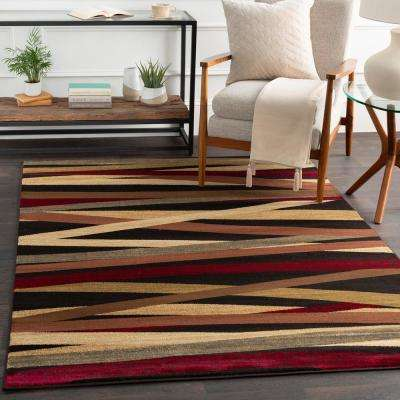 Sirene Burgundy 2 ft. x 7 ft. Indoor Runner Rug