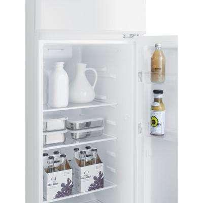 22 in. 8.9 cu. ft. Top Freezer Refrigerator in White, Counter Depth