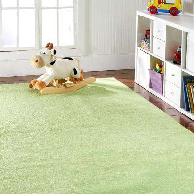 OurSpace Lime Green 2 ft. x 6 ft. Bright Runner Rug