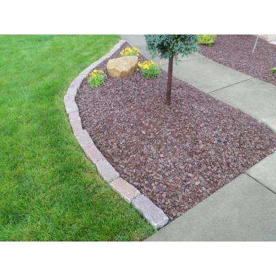 Cobblestone 9 in. x 5 in. x 5 in. Rose Granite Edging (75-Pieces/56 Linear ft./Pallet)