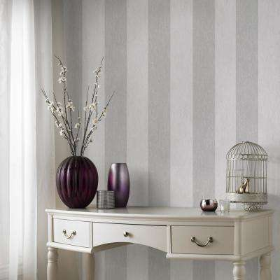 Empress Mercury Stripe Silver Removable Wallpaper