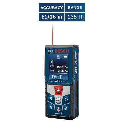 BLAZE 135 ft. Laser Measurer with Full Color Display