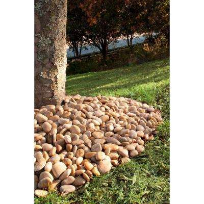 0.5 cu. Ft. 1 to 2 inch Black Polished Pebbles 40 lb. Bag