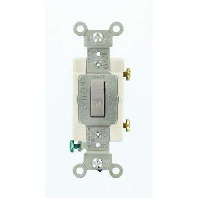 20 Amp Commercial Grade 3-Way Toggle Switch, Gray