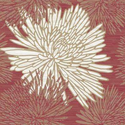 8 in. x 10 in. Chrysanth Red Wallpaper Sample