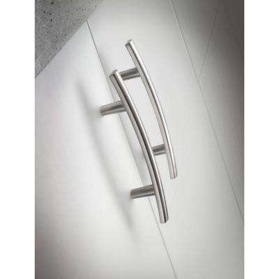 Arched 3 in. (76mm) Center-to-Center Satin Nickel Drawer Pull (6-Pack)