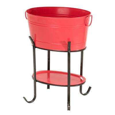 Capri Red Oval Party Tub