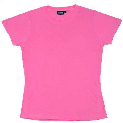 7000 M Non-ANSI Women's Fit Hi Viz Pink Poly Jersey Knit T-Shirt