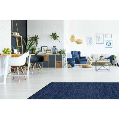 Leather Matador Blue 8 ft. x 8 ft. Round Area Rug