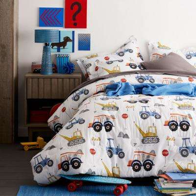Construction Zone 200-Thread Count Cotton Percale Comforter