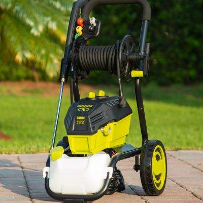 3000 PSI MAX 1.30 GPM 14.5 Amp High Performance Electric Pressure Washer with Hose Reel