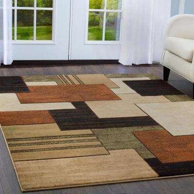 Tribeca Brown/Green 5 ft. x 7 ft. Indoor Area Rug