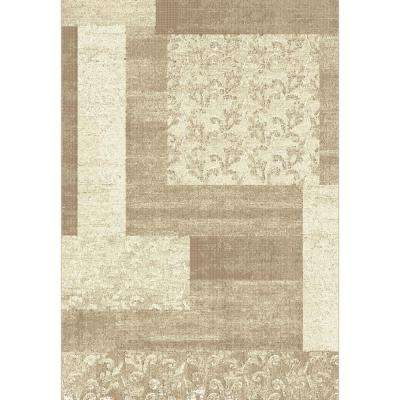 Mysterio Beige 6 ft. 7 in. x 9 ft. 6 in. Indoor Area Rug