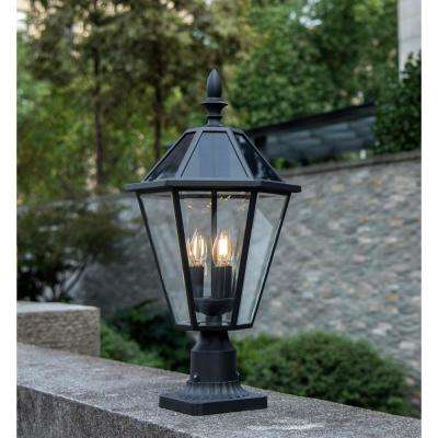 Coastal Milford 3-Light Outdoor Black Post Light