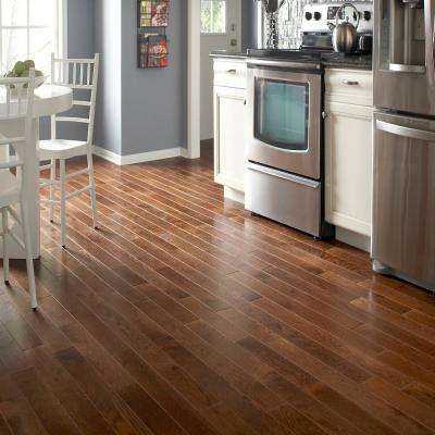 Lightly Brushed Oak Provincial 3/8 in. T x 3 in. W x Random Lengths Engineered Hardwood Flooring (25.5 sq. ft. / case)