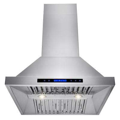 30 in. Kitchen Wall Mount Range Hood in Stainless Steel with Remote and Touch Control