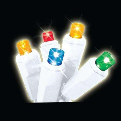 35-Light LED Multi-Color Battery-Operated Icicle Light Set